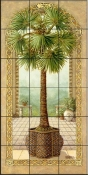 Palm Tree in Basket II - JK - Tile Mural