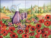 Poppies of Toscano-KM - Tile Mural