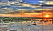 Everglades Sunset-SA - Tile Mural