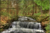 Mountain Stream-SA - Tile Mural