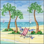 Whimsy Bay Sling Chairs - PB - Tile Mural