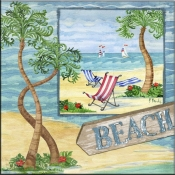 Whimsy Bay Collage II - PB - Accent Tile