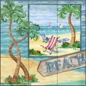 Whimsy Bay Collage II - PB - Tile Mural