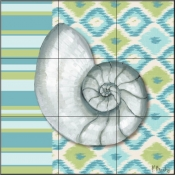 Watercolors III-PB - Tile Mural