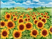 Sunflower Field-PB - Tile Mural