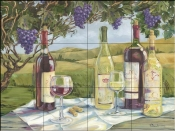 Vineyard Wine Tasting-PB - Tile Mural