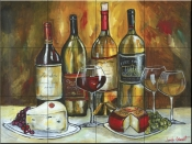 Wine and Cheese - JG - Tile Mural