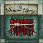 JG - Le Piment Rouge - Tile Mural