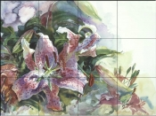 Tiger Lilies - CH - Tile Mural