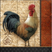 A French Rooster II-AW - Tile Mural