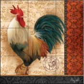 A French Rooster III - AW - Tile Mural