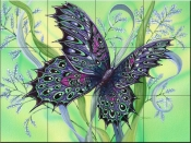 Facet Wings-DF - Tile Mural