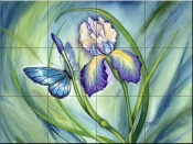 Lovely Iris - DF - Tile Mural