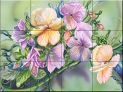 Pansy Paradise - DF - Tile Mural