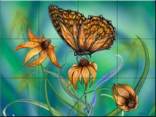 Summer Wings-DF - Tile Mural