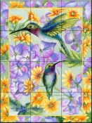 Daisy Duo-DF - Tile Mural