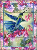 Fuchsias Flight-DF - Tile Mural