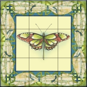 Butterfly Square 2-DF - Tile Mural