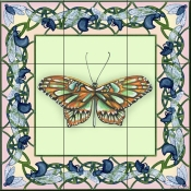 Butterfly Square 5-DF - Tile Mural