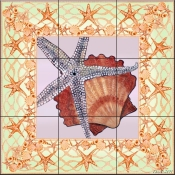 Seashell Square 3 - DF - Tile Mural