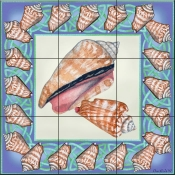 Seashell Square 4 - DF - Tile Mural
