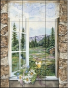 A Room With A View    - Tile Mural