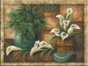 Vessels And Callas-JS - Tile Mural