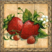JS - Strawberries - Tile Mural