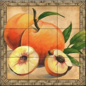JS - Peaches - Tile Mural