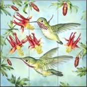 RS-Calliopes Hummingbirds - Tile Mural