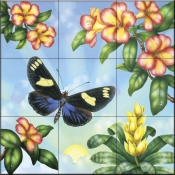 RS-Doris Butterfly - Tile Mural