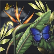 RS-Metalmark Butterfly - Tile Mural