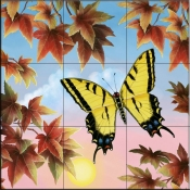 RS-Swallowtail Butterfly - Tile Mural