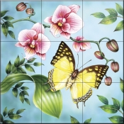 RS-Nawab Butterfly - Tile Mural