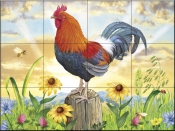 Rooster at Dawn-RS - Tile Mural