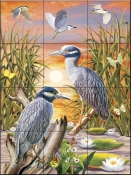 Night Herons - RS - Tile Mural