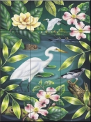 River Egret - RS - Tile Mural