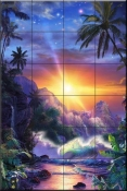 Hawaiian Embrace - CRL - Tile Mural