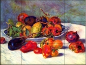 Still life with Tropical Fruit - Tile Mural
