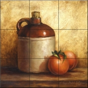 Jug with Peaches - Tile Mural