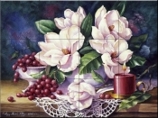 PTS - Magnolias and Candle - Tile Mural