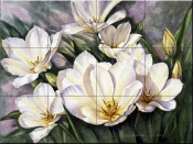 PTS - Open Tulips - Tile Mural