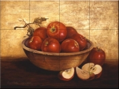 PTS - Wooden Bowl with Apples - Tile Mural