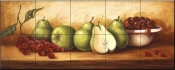 PTS - Pears and Grapes Panel II - Tile Mural
