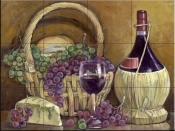 Chianti with Goodies - TK - Tile Mural