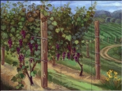 Vineyard II-TK - Tile Mural
