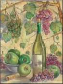 TK-Wine with Apples - Tile Mural