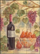 TK-Wine with Pears - Tile Mural