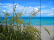 Sea Grass in the Breeze - Tile Mural