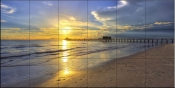 Naples Sunset - Tile Mural